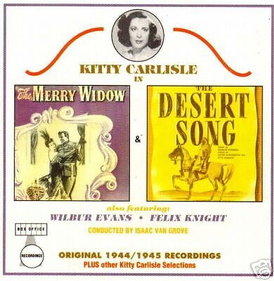 The Merry Widow Songs - The Merry Widow/The Desert Song-Kitty Carlisle -Cast CD