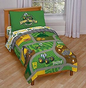 Johnny Tractor toddler bedding