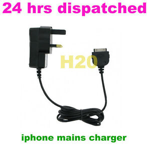UK MAINS CHARGER FOR IPHONE 2G 3G 3GS 4 4G 4S IPOD TOUCH MINI NANO CLASSIC-IPOD