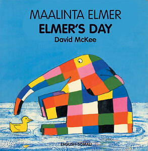 Elmer's Day (English-Somali) (Elmer series)-ExLibrary