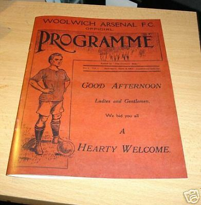 Arsenal v Leicester First EVER Match Highbury Programme
