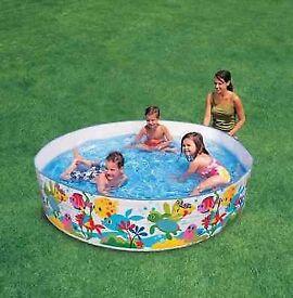 Intex Snapset Pool 4FT Swimming Pool Paddling Summer Garden Fun Rigid