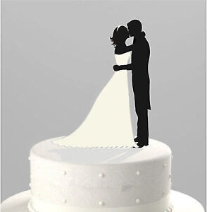 Wedding Cake Topper Bride & Groom Couple Silhouette - New