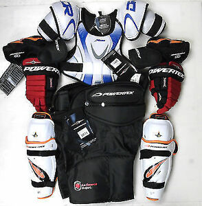 Junior hockey equipment glove pants helmet shoulder pads youth