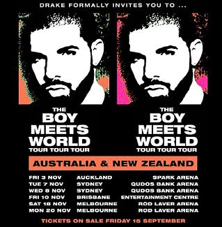 Drake Hardcopy Sydney GA Wednesday 8 November (Mosh) Homebush