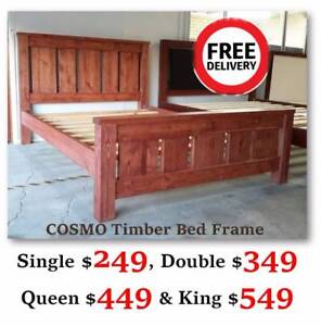 New Timber Bed Frame/Mattress for Sale from $249   Free Delivery