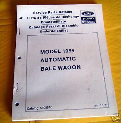 Ford New Holland 1085 Automatc Bale Wagon Parts Catalog