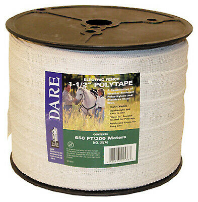"10 rolls  1//2/"" wide Horse polytape 656/' electric fence  White"