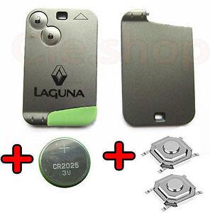 coque carte cle plip t l commande renault laguna 2 boutons pile switch offert ebay. Black Bedroom Furniture Sets. Home Design Ideas