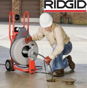 NEW RIDGID K750 DRUM MACHINE - 122127711 - 5/8-inch Pigtail Drain Snake PLUMBING 115V