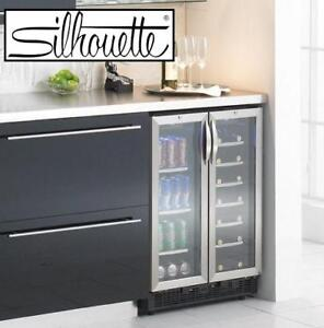 NEW* S 5.0 CU. FT. BEVERAGE CENTER - 125526347 - SILHOUETTE DUAL ZONE STAINLESS STEEL FRIDGE REFRIGERATOR