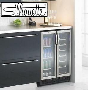 NEW* S 5.0 CU. FT. BEVERAGE CENTER - 128755301 - SILHOUETTE DUAL ZONE STAINLESS STEEL FRIDGE REFRIGERATOR