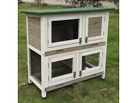 Brand new grey rabbit/guinea-pig hutch and cover.
