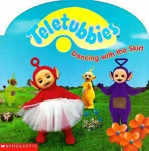 Childrens-Paperback-Book-Teletubbies-Dancing-with-the-Skirt