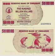 Zimbabwe 500 Million