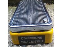 Colorsound wah fuzz swell guitar effects pedal 1970s - intermittant fault