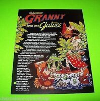 Granny & The Gators Stand Up Arcade Game