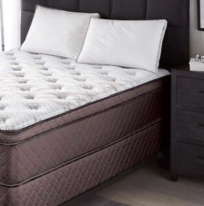 """Wholehome """"Manchester"""" euro top queen mattress and box spring"""