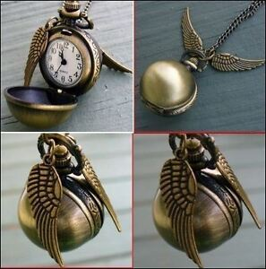 HARRY POTTER SNITCH WATCH PENDANT - NEW