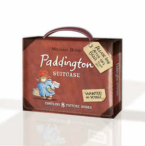 NEW Paddington Suitcase By Michael Bond Hardcover 9780007251940, Book Set.