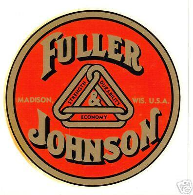 Fuller Johnson 1 Pair Vinyl Sticker A072