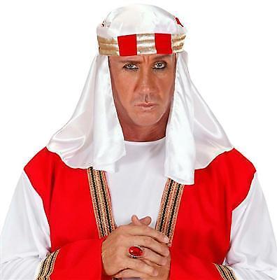 Arabische Kopfbedeckung Scheich Kopftuch Araber Turban Orient  Kostüm - Arabische Scheich Kostüm Kopfbedeckung