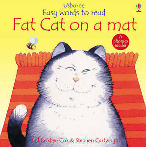 Fat Cat On A Mat Usborne Easy Words To Read Good Book