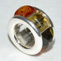AUTHENTIC BALTIC AMBER 925 STERLING SILVER CHARM PENDANT