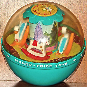 Vintage Roly Poly Fisher Price chime ball baby toy rocking swans Edmonton Edmonton Area image 1