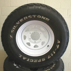 4WD 16 INCH WHEEL AND TYRE. CAMPER TRAILER, CARAVAN NEW WHEEL & 2ND HAND TYRE.