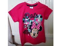 Minnie Mouse and princess tshirts