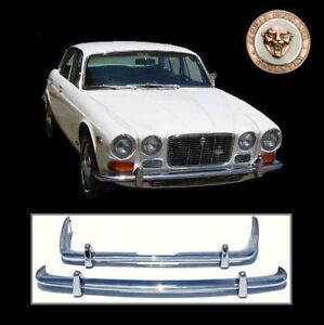 Jaguar XJ XJ6 XJ12 S1 S2 XJC stainless steel bumpers, 6 12 C Series S 1 2, new