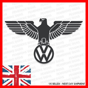 2 x VW German Eagle Sticker Decal - Beetle, Polo, Golf, Passat, Scirocco, Camper