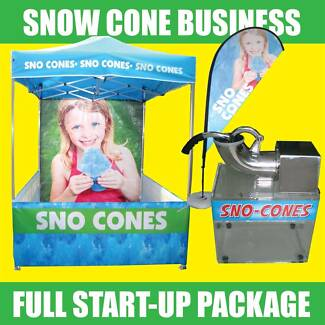 SNOW CONE STARTUP BUSINESS - TENT, MACHINE, BANNER - Sno