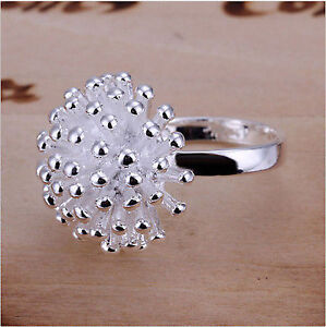New Silver Plated Fireworks Ring Size 8