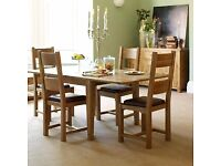Barker an Stonehouse Micklow Oak Dining Table and 4 Chairs