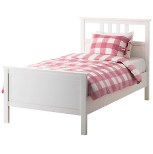 NEW IKEA HEMNES TWIN BED + IKEA MEMORY FOAM MATTRESS