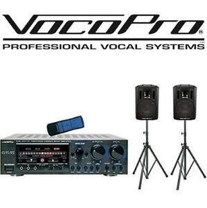 NEW VOCOPRO KARAOKE CASE - 128126239 - MIXING AMPLIFIER W/ SPEAKERS