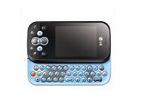 LG KS360 Aqua Blue Blue QWERTY Keyboard - Virgin Network