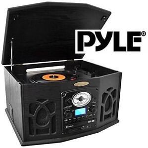 NEW* PYLE BLUETOOTH TURNTABLE - 127467292 - RETRO VINTAGE STYLE VINYL RECORD PLAYER W/ VINYL TO MP3 RECORDING STEREO ...