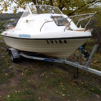 4.5m Swift craft kingfisher, No Motor..Solid boat..WANT GONE....