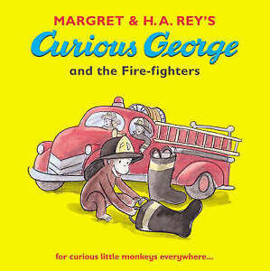 REY H.A-CURIOUS GEORGE & THE FIRE-FIGHTER  BOOK NEW