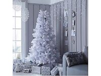 christmas tree - 6ft White Regal Fir Premier Christmas Tree with Metal Stand