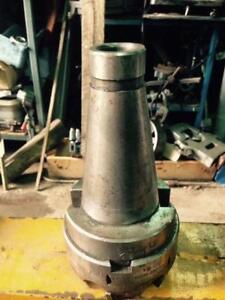"""Face Mill cutter, 4"""" dia. x 6 carbide inserts, futuremill Wedge, 50 taper, 6 kg."""