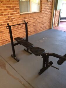 adjustable bench with leg curl attachment Hinchinbrook Liverpool Area Preview