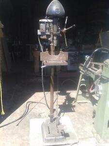 """ANtique Jos poitras & sons 16"""" drill press with pedal"""