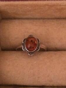 Baltic Amber ring- size 5.5