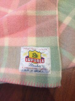 Vintage retro pure wool blanket