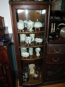 ANTIQUE OAK SIDE BY SIDE CHINA CABINET SIDEBOARD COMBINATION Sarnia Sarnia Area image 3