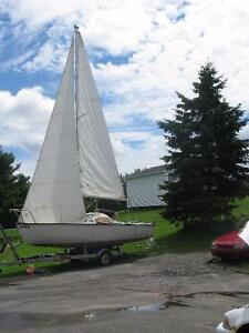 REDUCED - Sail Boat and Trailer in Good Condition